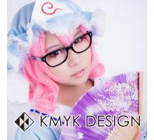送料無料!東方Projectメガネ 西行寺幽々子(さいぎょうじ ゆゆこ) キャラクターアクセサリーcosplay眼鏡