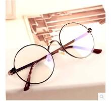 丸型ラウンドフレームメガネクラシック風原宿男女伊達眼鏡金属メタル度なしレンズなしおしゃれ近視対応