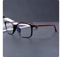 ブルーライトカット pcメガネ黒縁おしゃれめがねスクエア型パソコン スマホ 用 眼鏡 軽量紫外線カット度なしウェリントン男女ペア ブラックPCメガネ目保護パープル色