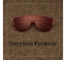 欧米ヒップホップ ファッション サングラスかっこいいメガネフレーム一体型めがねオシャレ未来感ビッグフレーム男女ツーブリッジ眼鏡コーデ大きいサングラス カラーレンズ レッド ピンク