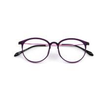度付きレンズメガネ女子伊達眼鏡度なし軽量メガネフレーム丸めがねラウンド型大きいフレーム紫色パープル男子韓国人気おしゃれダテメガネ丸いセルフレーム正規品