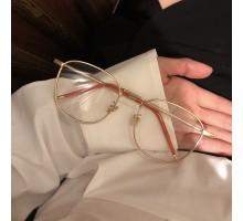 BLACKPINK リサ眼鏡人気伊達メガネ丸いめがねLISAラウンド型メタルダテメガネおしゃれ可愛い度付きレンズ女性レディース レトロすっぴんインスタ映えゴールド色銀色