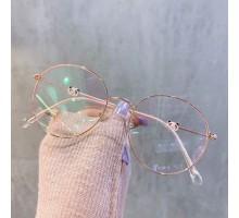 インスタ映え伊達メガネ可愛い眼鏡フレーム女子レディース韓国丸いめがねパンダ個性的度なし芸能人度付きレンズ高級メタル金銀黒ブルーライトカット ラウンドメガネ