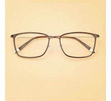 韓国軽量メガネ度入りレンズ伊達メガネ知的ビッグフレーム細いダテメガネめがねフルリムおしゃれヒョウ柄スクエア型男女めがねファッション茶色眼鏡クラシカル人気
