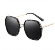 2020年トレンド眼鏡インスタ映えサングラス女子偏光レンズUVカット韓国おしゃれサングラス丸い顔紫外線対策めがね有名人俳優サングラス茶色パープル淡いカラーめがねファッション