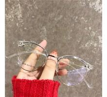 度あり眼鏡伊達メガネ女性大きい顔ダテメガネ痩せ顔効果軽量めがね黒縁度付き度なしすっぴんオシャレメガネ男性メガネフレーム透明クリア有名人ピンク色サーモントブロー
