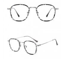 有名人ヒョウ柄メガネ伊達メガネフレーム女性ラウンド鼈甲柄クラシックめがね人気軽量レオパード度なし度付きレディース眼鏡デミブラウン