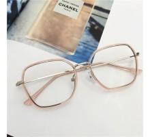 芸能人透明メガネ伊達眼鏡クリアフレームめがねインスタ映え質感ダテメガネ異素材組み合わせメタル眼鏡丸い顔フレーム軽量セル高級めがねピンク色可愛い度あり度なしレンズ