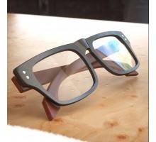 ウッドフレームメガネ木材伊達メガネ 男メンズかっこいい木製品スクエア型四角形ダテメガネおしゃれ眼鏡太いフレーム度なし度入りレンズレトロ近視対応クラシック風めがね