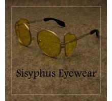 黄色レンズ眼鏡クラシカル イエロー度なしレンズ パンクファッション サングラス女子オシャレ男子バイクUVカット偏光サングラスかっこいい個性的防風メガネ水銀ロック系