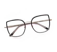 2021年トレンド黒縁メガネ キャットアイめがねエレガント痩せ顔効果大きいフレーム クラシック度付きレンズ度なし丸い顔ダテメガネ軽量ブルーライトカット