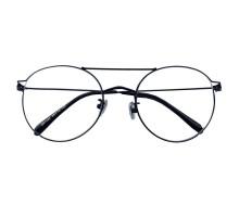 2021年流行りメガネ個性的ツーブリッジ メガネ 女子かわいいメタル伊達メガネ痩せ顔効果ブラック度なし度付きレンズ銀色コーヒー色大きいフレーム