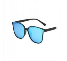 偏光サングラス女子韓国オシャレめがね2020年流行りミラーレンズ個性的大きいフレームサングラス痩せ顔効果紫外線カットUVカット眼鏡レディース白縁茶色青レンズ上品