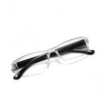 日本製一体形シニアグラス老眼鏡疲労対策リーディンググラス度数ありオシャレ透明フレーム便利携帯老眼鏡高級エレガント ブラック パープル クリアリーディンググラス度付きレンズ