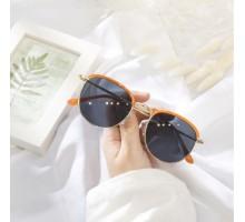 韓国ファッション眼鏡インスタ映えサングラスおしゃれサーモントブロー サングラス女子小顔効果偏光サングラス個性的レディース オレンジ色ラウンド型丸いUVカットレンズ