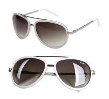 ブランド風黒白ブラック色ホワイト色フレーム男子女性サングラス カップル向けお揃いペア紫外線カット眼鏡正規品 おしゃれメガネ パイロット眼鏡ティアドロップ
