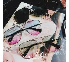 2018トレンドサングラス大きいスクエア型フレーム男女コーデ四角形メガネ旅行海辺浅いカラーレンズ眼鏡サングラス丸い顔紫外線対策めがねグラデーション色人気サングラス