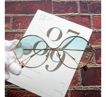 最新流行り度入りレンズ対応伊達メガネ丸眼鏡オシャレめがねコーデ用ラウンドフレーム度なしサングラス グラデーション色カラーレンズ芸能人モデル愛用大きいメガネ