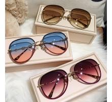 キラキラ クリスタル 飾りサングラスきれい女性レディースめがね2020可愛い韓国サングラスおしゃれフレーム眼鏡グラデーションカラー レンズ高級紫外線カット インスタ映え有名人