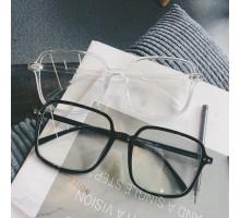 韓国ファッション軽量伊達眼鏡大きいフレーム透明めがねクリア伊達メガネフレームおしゃれフルリム女性度付き透明メガネ度なしレンズ人気クリア色黒ぶちオレンジ色高級セルフレーム