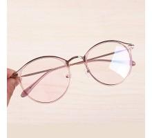 軽いフレーム伊達メガネ女性おしゃれファッションめがね丸い眼鏡クラシカル可愛いベアピンクtr90ダテメガネ異素材金属メタル人気ラウンド型めがね韓国芸能人