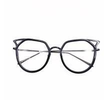 2021個性的黒縁メガネ猫耳可愛い黒ぶち伊達メガネフレーム女子コーデ度付きレンズ度なし軽量おしゃれブルーライトカット花柄眼鏡ネコミミ