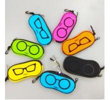 カラフル メガネ収納ケース サングラス オレンジ ブラック ブルーカラー メガネケース男女ペア シンプル イエロー ジッパー式 眼鏡ケース ソフト