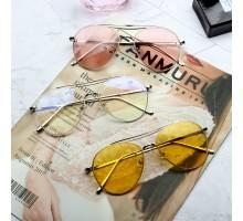 BTS防弾少年団メンズ人気サングラスEXOめがねエクソUVカット韓国オルチャン眼鏡サングラス黄色レンズ個性的男性女性おしゃれ度付きレンズ対応ファッション透明ピンク イエロー