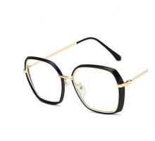 太いフレーム度付きオシャレめがね伊達メガネ女子度なし男女メンズ大きいフレーム韓国ファッション眼鏡ブルーライトカット有名人バイカラーめがね