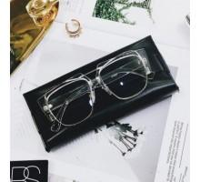 有名人芸能人アイドル男性メンズ人気ダテメガネ伊達メガネ女性レディースすっぴんコーデ眼鏡金属メタル明るいお揃いペアメガネ大きいフレーム個性サングラス超ファッション