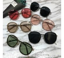 2018トレンドサングラス韓国偏光サングラス最新メガネ女子レディースおすすめフルリム セルフレームUVカット紫外線対策おしゃれ眼鏡丸いサングラス