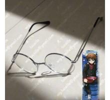 丸いメガネ眼鏡シルバー志村新八コスプレメガネ奴良リクオ伊達眼鏡 コスプレ学生cosplayアクセサリー仮装めがねコスプレイヤーぬらりひょんの孫