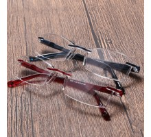 リムレス老眼鏡男女快適おしゃれ超軽量エレガント PC一体フレームレス縁なし無し 疲労対策ブルーライトカット遠視メガネめがねシニアグラス鯖江製
