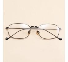 ゴールドフレーム気質めがねクラシックおしゃれ男女ペア伊達メガネ眼鏡オーバル型メタル細い金属ダテメガネ度なし度付きレンズ人気黒縁シルバー
