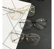 韓国レトロ文系清楚系クラシック細いフレーム眼鏡伊達メガネ女子コーデ用おしゃれ可愛い丸いラウンドめがねダテメガネ度なしレンズ超ファッション