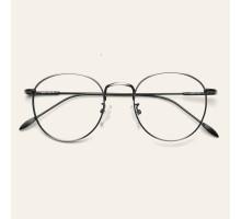 メタル金属丸いラウンド眼鏡メガネフレーム伊達度付きレンズ近視女子超軽量エレガント大人大きい顔めがね大きいフレームクラシックおしゃれレトロ度なしダテメガネ