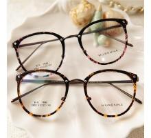 レトロ学院風大きいフレーム度なしレンズめがね伊達メガネ最新クラシック風TR-90軽い眼鏡フレーム度いりヒョウ柄フルリム型メガネおしゃれ女子