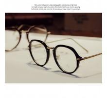 2018最新韓国フルリム型レトロ個性的丸いメガネ眼鏡ラウンド伊達めがねフレーム女子おしゃれ度なしレンズ度いりレンズ対応