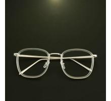 韓国スタイル眼鏡メガネ女子透明クリアめがねフレーム男子レトロ眼鏡スクエア型クラシック風フルリム式伊達メガネ度なしレンズ大きいフレーム度入りレンズ対応ブルーライトカット