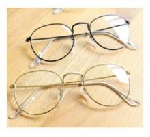 韓国おしゃれレトロすっぴん隠すクラシック風ゴールド金色メガネ細いフレーム伊達メガネ女性原宿有名人ダテ眼鏡フレーム近視度いりレンズ度無しめがね