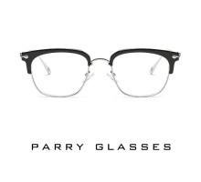 男性メンズ芸能人アイドル有名人メガネめがねフレーム伊達眼鏡メガネ超軽量軽いメタル純粋ハーフリム型サーモント定番スクエア度いり度なしレンズ クロムハーツChrome Hearts風