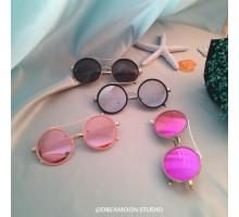 2018最新レトロ古典風丸メガネ偏光サングラス女子紫外線カット眼鏡丸顔ラウンドフレームめがねオシャレ2017サングラス度なし度付きレンズ