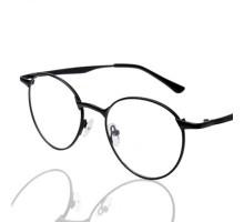 【送料無料】抜群のフィット感韓国クラシック伊達メガネ大きいフレームメガネメタル金属細いフレーム眼鏡女子小さい顔近視対応度なしレンズおしゃれ男性