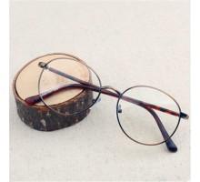 デザイナー男女文系度なし伊達めがねメガネフレーム度付きレンズ韓国日系クラシック古典風超軽量金属メタル細い丸ラウンドフレーム眼鏡