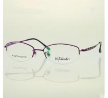 おしゃれチタン製メガネフレーム サラリーマンOL向けハーフリム近視眼鏡フレーム細い ブルーライトカット女子メガネ度付きレンズ対応
