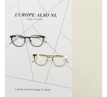 全金属メタル製オーバル型ダテメガネ細いフレーム芸能人愛用クラシック風エレガント度なしレンズ眼鏡フレーム度入りレンズ対応