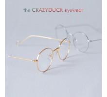メタル全金属韓国文系文学クラシック古典バンテージ風清楚系丸いラウンドフレーム度なしメガネ眼鏡フレーム伊達超軽量度入りレンズ対応めがね