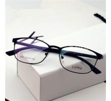 最新おしゃれTR90フルリムメガネファッションスクエア型男女度なしレンズ眼鏡フレーム学生近視対応メガネ
