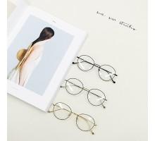 メタル製金属文系少女細いフレーム眼鏡クラシック風古典個性ダテメガネ度なしレンズめがねフレーム伊達近視度入りレンズ対応