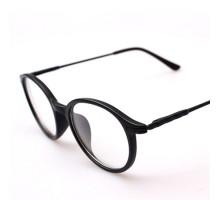 輻射防止メガネ クラシック風ラウンド型フレーム丸いメガネ ブルーライトカット文学風顔小さく見えるPC目保護メガネ度なしお洒落女子